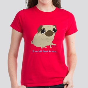Bacon Pug Women's Dark T-Shirt